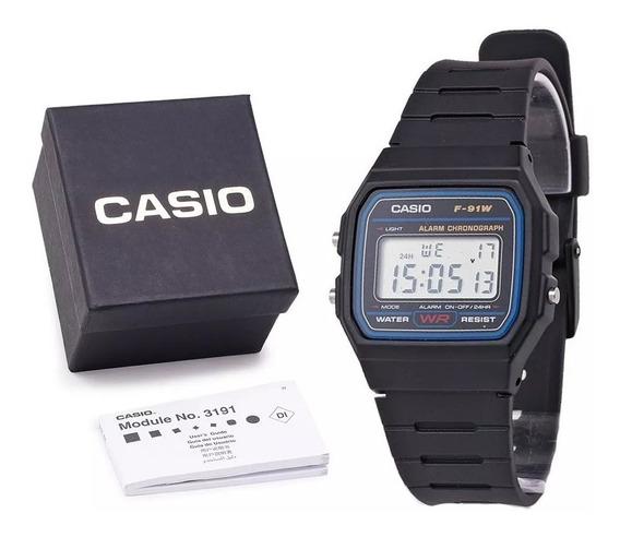 Relógio Casio F-91w Unissex Original C/ Caixa - Original