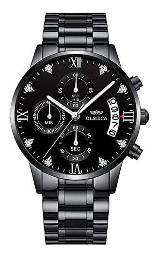 Wyenliz Reloj De Hombre Original Elegante Negro