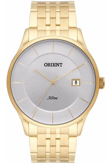 Relógio Orient Masculino Slim Mgss1127 S1kx Dourado Prata