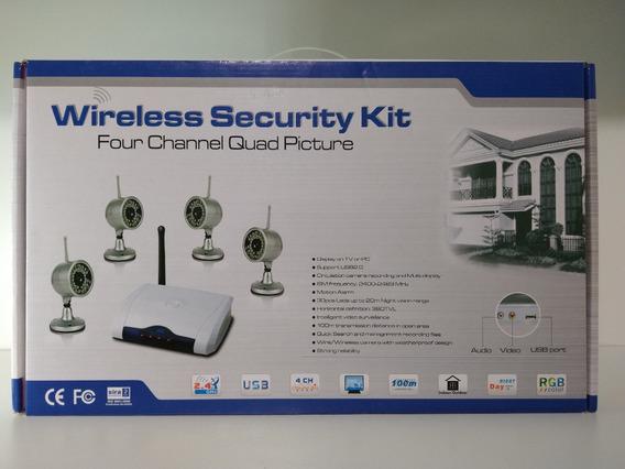 Kit Segurança Sem Fio Wireless Quatro Canais Imagem 2.4ghz