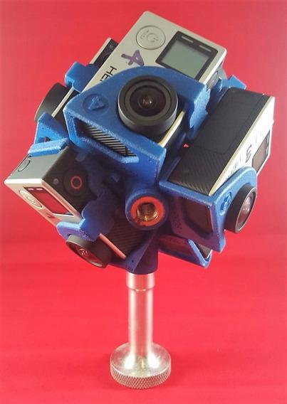 Suporte Gopro 360hero Pro7 + Software Para Edição De Vídeo