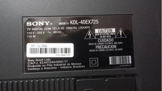 Placas Da Tv Sony Led Bravia Kdl40ex725 -