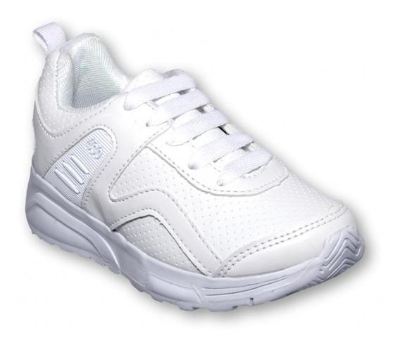 Tenis Color Blanco Escolares -mod.0430it1732269
