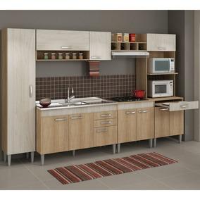 Cozinha Completa Com Balcão Sem Pia 6 Peças 11 Ef