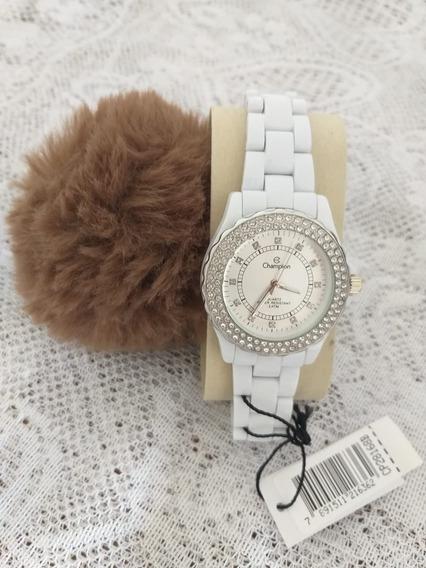 Relógio Feminino Analógico Champion Cp28168b - Branco