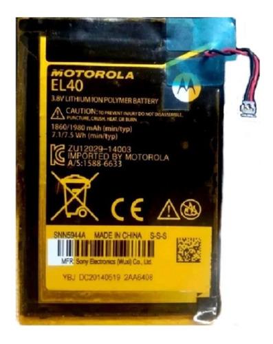 Bateria  Moto E1 Primera Generación  Ref El 40 Original