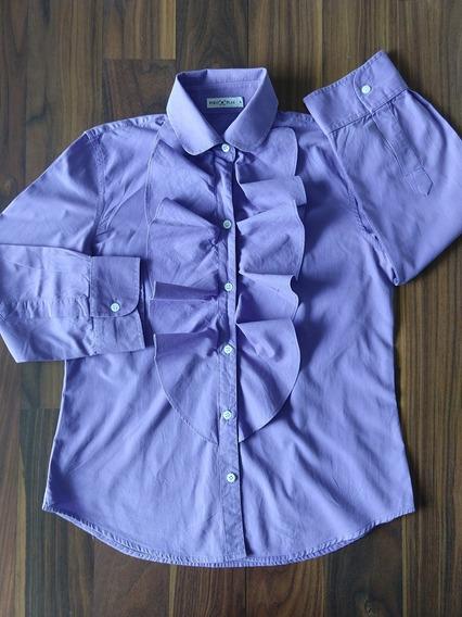 Camisa Social Feminina Polo Play P Violeta Original Promoção