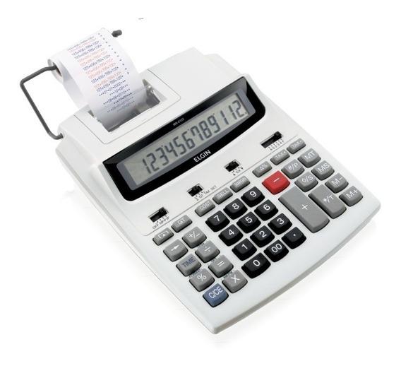 Calculadora Com Bobina 12 Digitos Elgin Mr6125 Frete Gratis