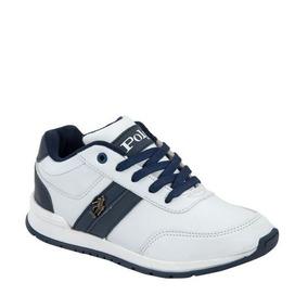 Tenis Casual Hpc Polo 205 Color Blanco Comodos Originales
