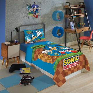 Jogo De Cama Solteiro Sonic 3 Peças Lepper