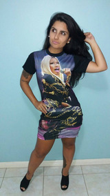 Vestido Nicke Minaj Ziper Lateral Personalizado