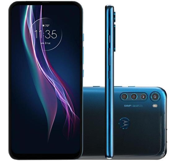 Celular Motorola Moto One Fusion Plus Azul 128gb Tela 6.5