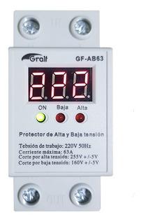 Protector Tension Monofasico 63a Alta/baja Riel Din 220v