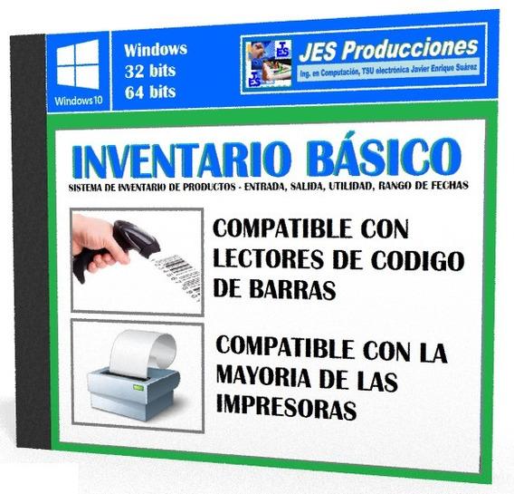 Control De Inventario, Programa De Almacen Codigo De Barras