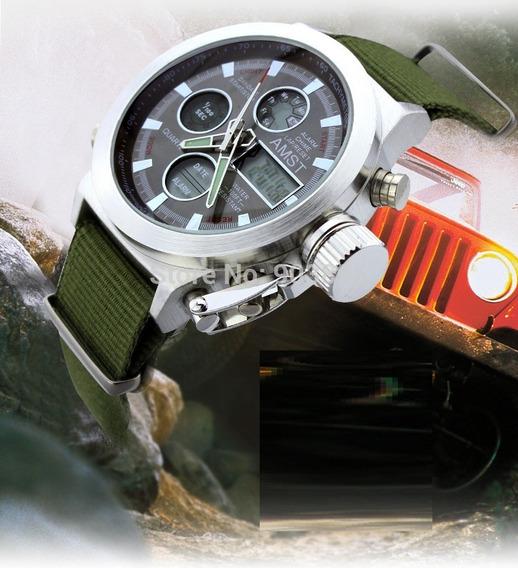 Relógio De Pulso Masculino Estilo Militar