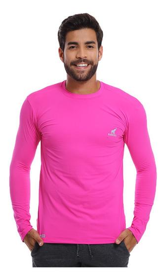 Camisa Com Proteção Solar Uv 50 Slim Fitness - Blusa Unissex