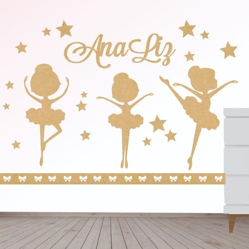 Imagem 1 de 1 de Painel Decorativo Quarto Menina Infantil Bebe Bailarinas