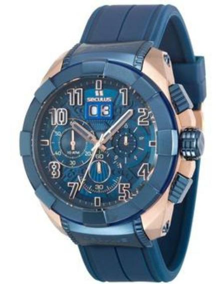 Relógio Masculino Cronógrafo Seculus 13009gpsvru5