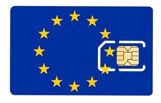 Chip Itália França Europa Internet 12gb - 30 Dias
