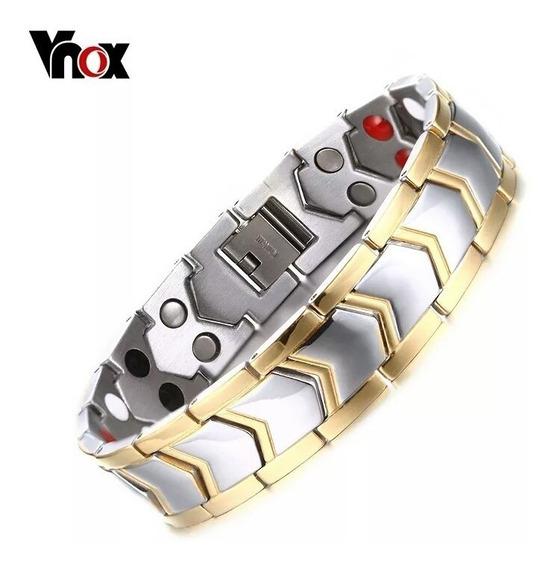 Pulseira Bracelete Ouro Masculino Banhada Ouro 18k Ouro 750