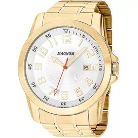 Relógio Magnum Masculino Dourado - Ma32792h