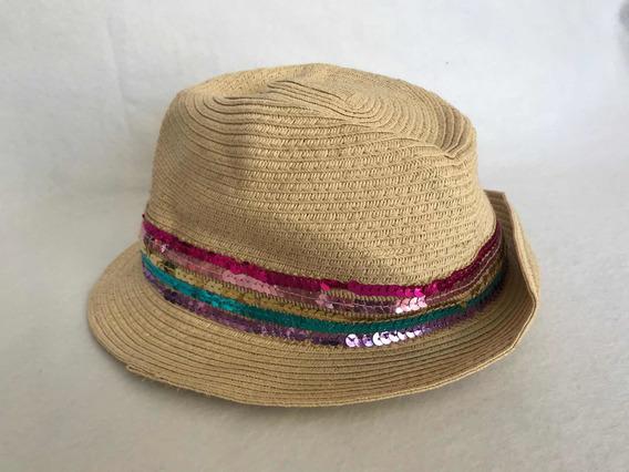 Sombrero Marca Gap Con Lentejuelas Tejido Original