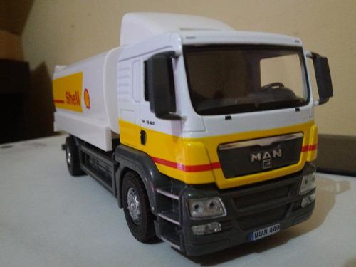 Imagem 1 de 4 de Miniatura Caminhão Man Tgs 18.320 Shell Combustível Esc1:43