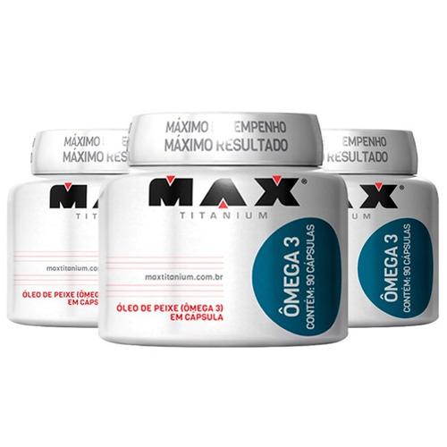 Ômega 3 - 3x 90 Cápsulas - Max Titanium