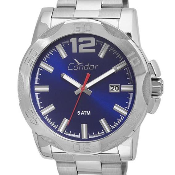 Relógio Condor Masculino Original Co2415bg/3a Prateado