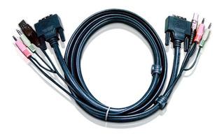 Cable Kvm Dvi Y Usb Aten 2l-7d02u 1.8 Mts Kvm Switch Cs1768