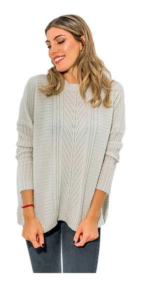 Sweater Mujer Lana Premium Dama Cuello Redondo Invierno