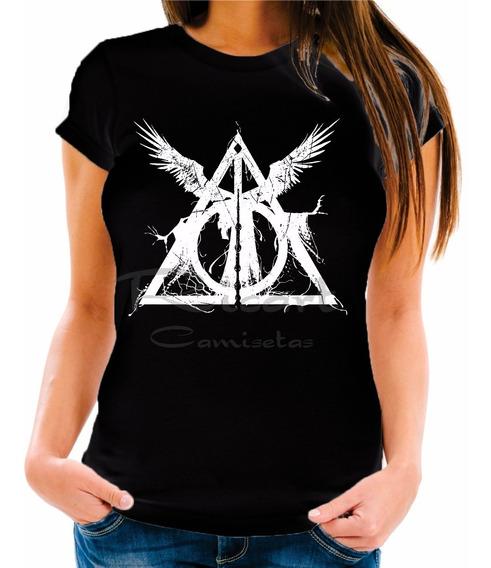 Camiseta Baby Look Harry Potter Reliquias Da Morte Filme