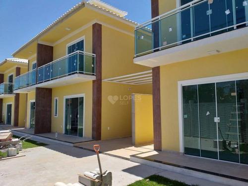 Imagem 1 de 8 de Casa Com 2 Quartos, 70 M² Por R$ 270.000- Jardim Atlântico Leste (itaipuaçu) - Maricá/rj - Ca20865