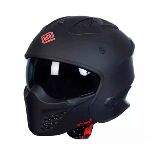 Casco Para Moto Faseed Tropper Con Máscara Y Lentes Motocity