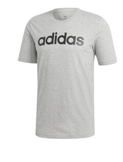 adidas Remera Hombre - Essentials Linear Grey