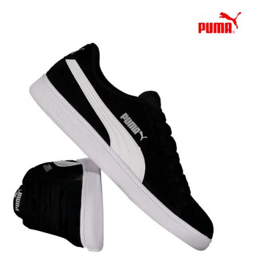 Tênis Smash V2 Black/white- Puma