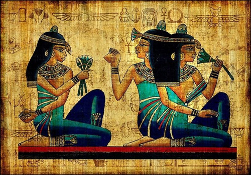 Poster Foto Hd 65x100cm Decoração Hieroglifos Estilo Egípcio