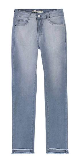 Calça Jeans Feminina Skiny Barra Desfiada Assimétrica Hering