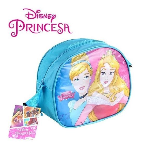 Bolsa De Vinil Infantil Oval Princesas 19x16,5cm*-*