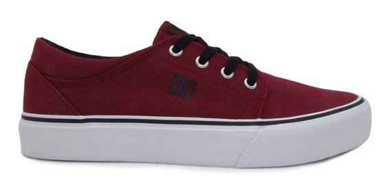 Tenis Dc Shoes Trase Tx Youth Adbs300083 Drk Dark Red Vino