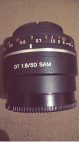 Lente Sony Alpha Dt 50mm F1.8 Sam A-mount Sal50f18 Ori
