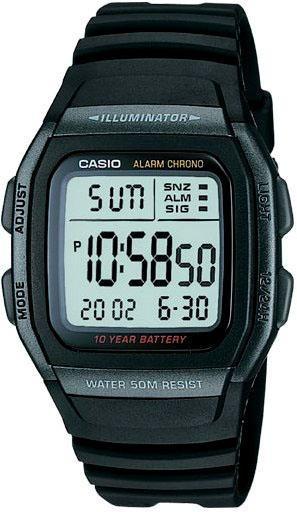 Relogio Casio W 96 Preto Unisex Cron/alar 50m W96