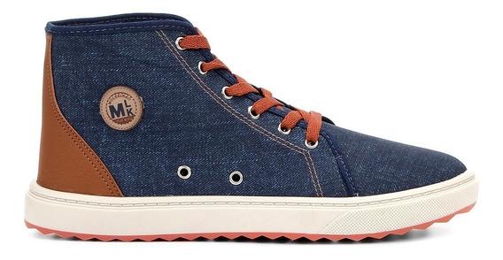 Tênis Cano Alto Infantil Molekinho 2813105 Jeans