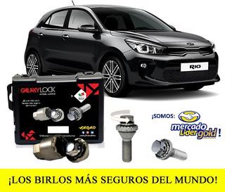 Tuercas Seguridad Galaxylock Kia Rio Hatchback Lx T/a Envío!