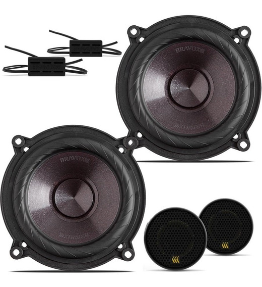 Kit 2 Vias Bravox Falante 5 + Mini Tweeter 200w Rms Cs50p