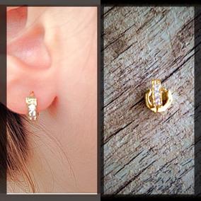 Argolinha Mini Cartilagem Da Orelha Folheada A Ouro 18k