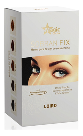 Henna Sobrancelha Sobran Fix Loiro Magic Color