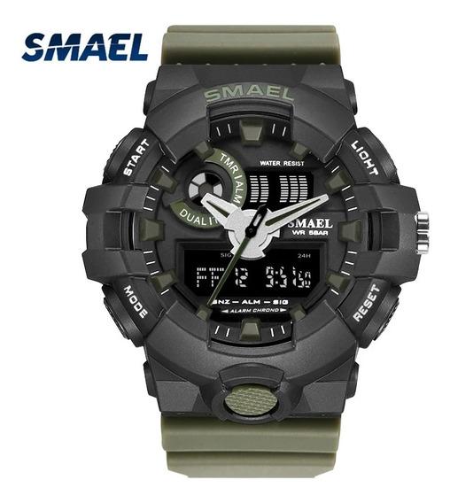 Relógio Smael 1642 Original Tatico Militar Esportivo Shock
