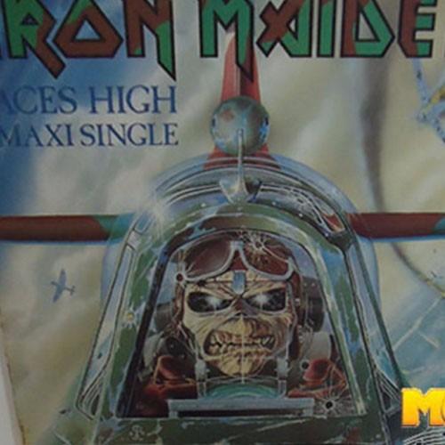 Iron Maiden 1984 Aces High Lp Single Rainbow