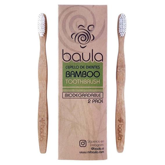 Baula Cepillo De Dientes De Bamboo, 2-pack - Barulu